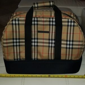 Authentic Burberry Duffle Golf Travel Tote Bag